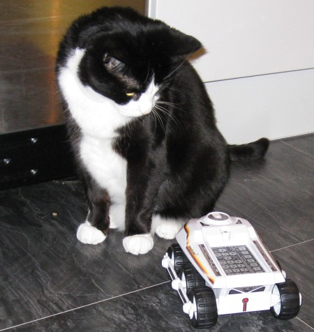Big Trak annoys Frequency Cat