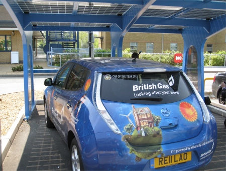 British Gas Nissan Leaf