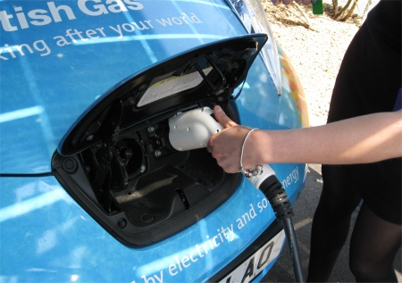 Charging the Nissan Leaf