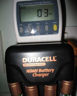Power consumption of Duracell Charger