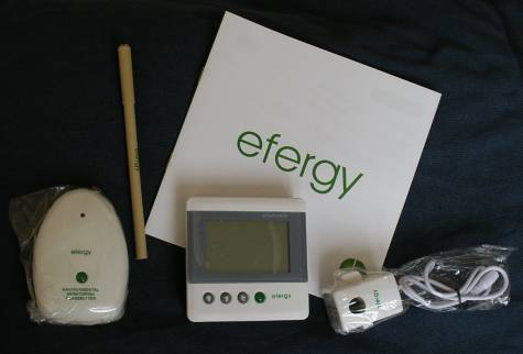 Efergy box contents