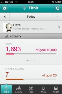 Fitbit iPhone App Summary