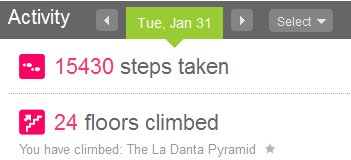 Fitbit Stairs