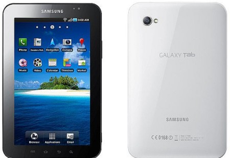 Samsung Galaxy Tab Front and Rear