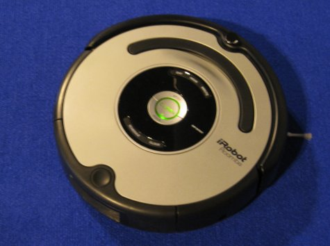 The iRobot Vaccuum Cleaner in action