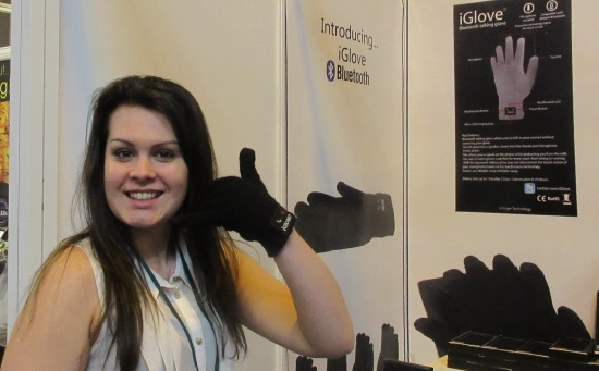 Kelly phones home with a smart glove