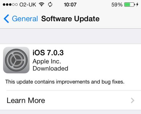 how to stop ios update in progress