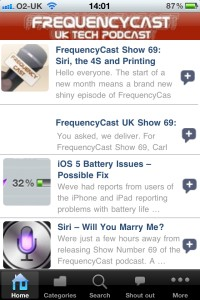 FrequencyCast UK iPhone App