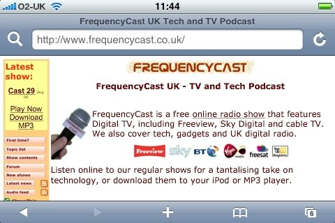 FrequencyCast on the iPhone