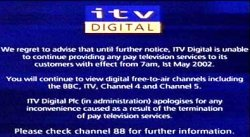 ITV Digital Closedown