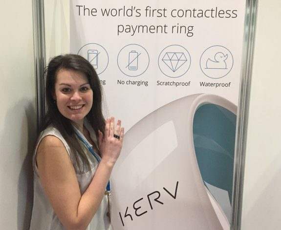 Kelly, modelling the Kurv Contactless Payment Ring