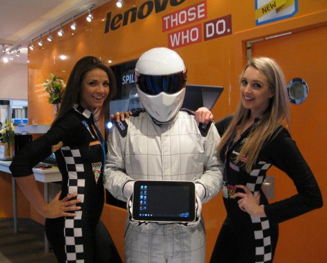 The Lenovo Girls, the S1 and a Stig Lookalike
