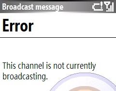 Lobster 700TV error message