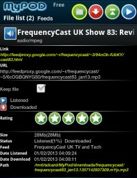 FrequencyCast on myPOD