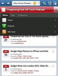 FrequencyCast on Android