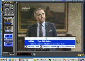 Screenshot of TV on a PC