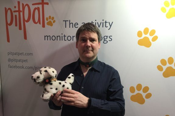 Pete, wearing the PitPat Pet Tracker