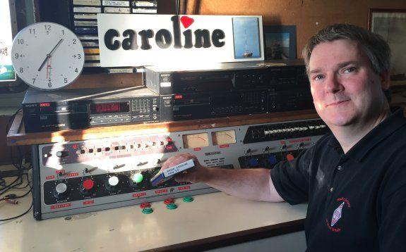 Pete in the Radio Caroline studio