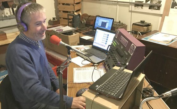 Jim Salmon, on-air on Radio Emma Toc in Feb 2017