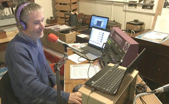 Jim Salmon, on-air on Radio Emma Toc in Feb 2017