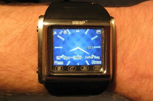 SWAP watch on wrist
