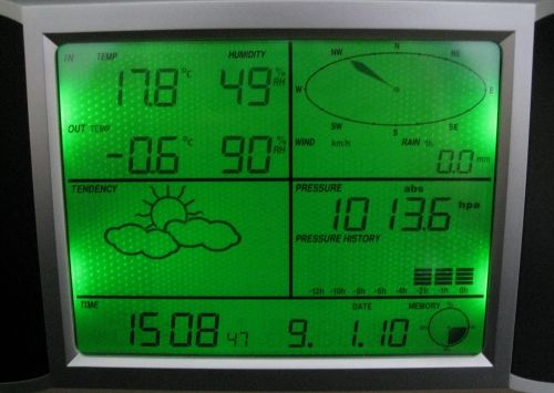 USB Weather Station Base Unit Screen