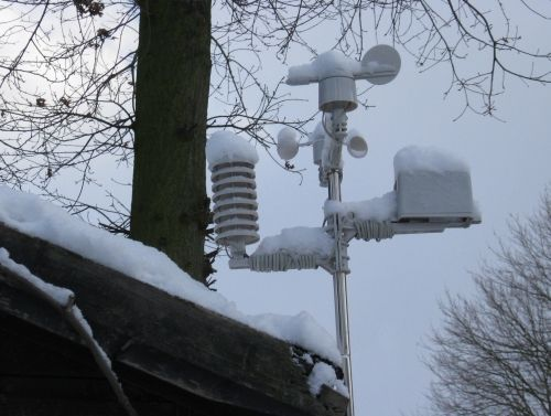 Weather Station Sensors on Shed
