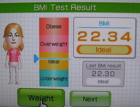 Sarah on Wii Fit